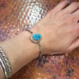 TURQUOISE NAVAJO ROPE STYLE CUFF BRACELET